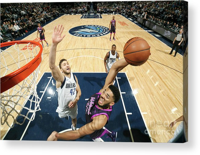 Nba Pro Basketball Acrylic Print featuring the photograph Dallas Mavericks V Minnesota by David Sherman