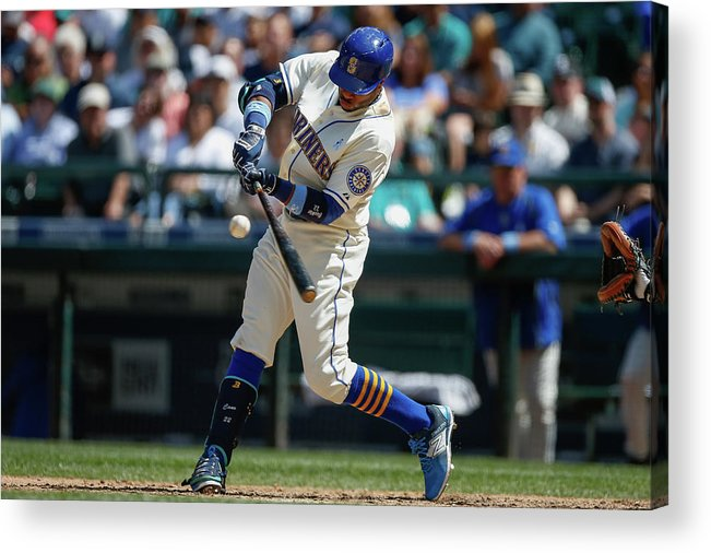 People Acrylic Print featuring the photograph Houston Astros V Seattle Mariners by Otto Greule Jr