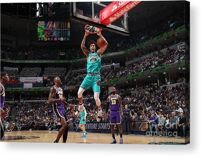 Nba Pro Basketball Acrylic Print featuring the photograph Los Angeles Lakers V Memphis Grizzlies by Joe Murphy