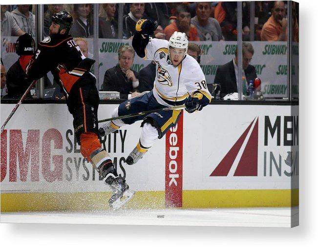 Playoffs Acrylic Print featuring the photograph Nashville Predators V Anaheim Ducks - by Sean M. Haffey