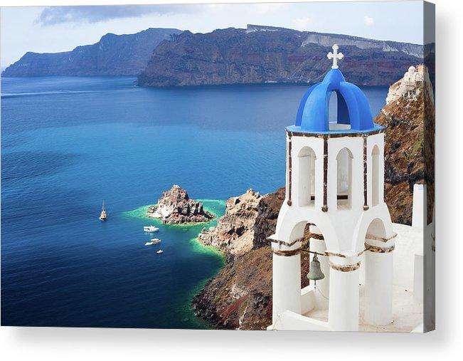 Greek Culture Acrylic Print featuring the photograph Santorini, Greece by Traveler1116