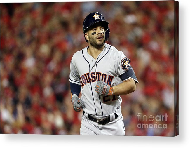 American League Baseball Acrylic Print featuring the photograph World Series - Houston Astros V by Patrick Smith