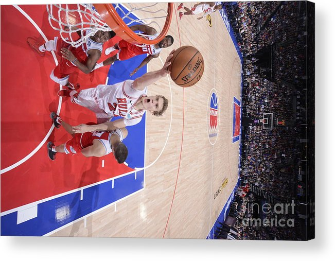 Chicago Bulls Acrylic Print featuring the photograph Chicago Bulls V Sacramento Kings by Rocky Widner