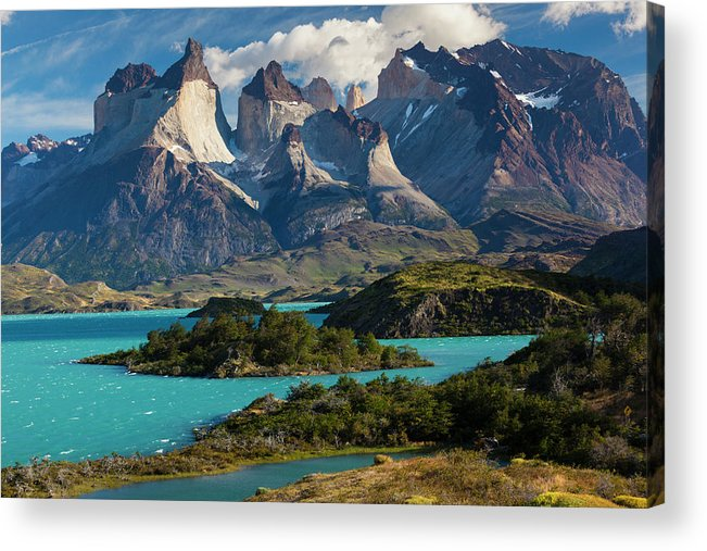 Scenics Acrylic Print featuring the photograph Chile, Torres Del Paine National Park by Walter Bibikow