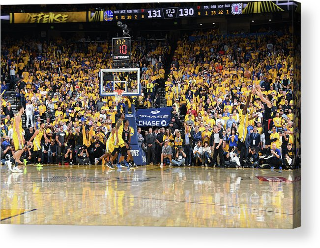 Playoffs Acrylic Print featuring the photograph La Clippers V Golden State Warriors - by Andrew D. Bernstein