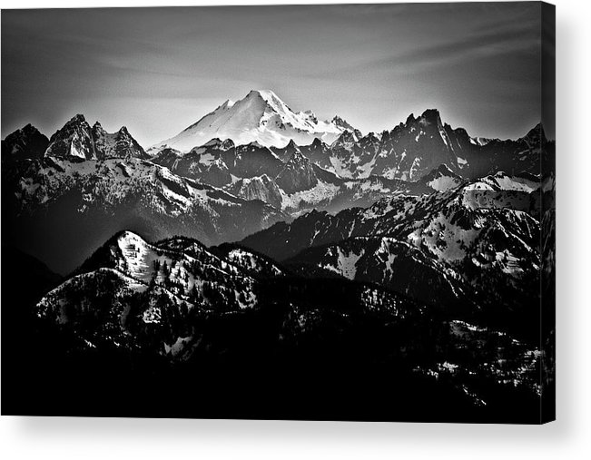 Tranquility Acrylic Print featuring the photograph Mount Baker by Christopher Kimmel