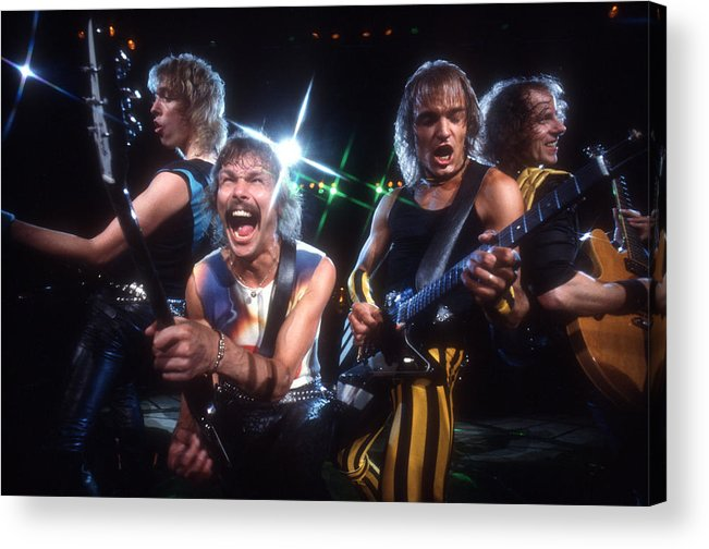 Heavy Metal Acrylic Print featuring the photograph Photo Of Scorpions by Michael Ochs Archives