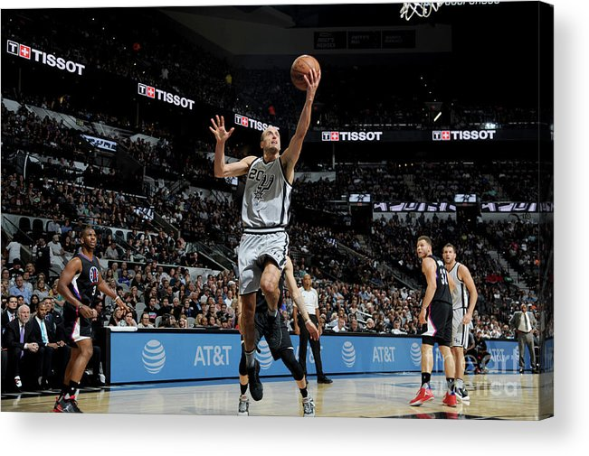 Nba Pro Basketball Acrylic Print featuring the photograph La Clippers V San Antonio Spurs by Mark Sobhani