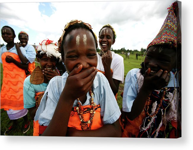 Assistance Acrylic Print featuring the photograph Women Empowerment In An Aids Ridden by Brent Stirton