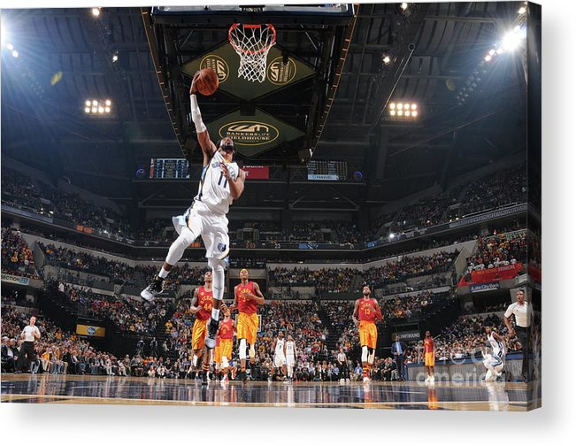 Nba Pro Basketball Acrylic Print featuring the photograph Memphis Grizzlies V Indiana Pacers by Ron Hoskins