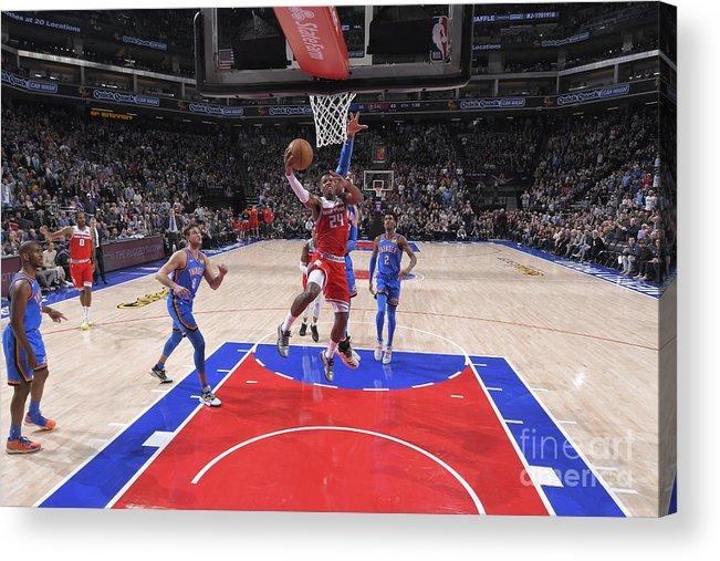 Nba Pro Basketball Acrylic Print featuring the photograph Oklahoma City Thunder V Sacramento Kings by Rocky Widner