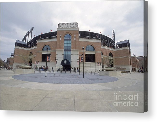 American League Baseball Acrylic Print featuring the photograph A General View Of Oriole Park At Camden by Doug Pensinger