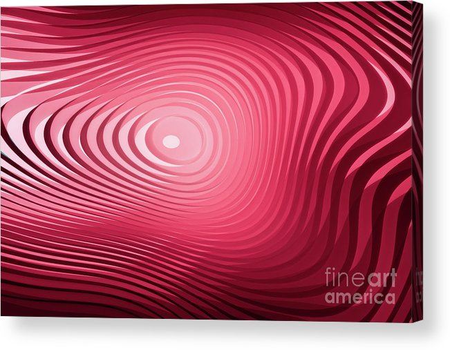 Curve Acrylic Print featuring the photograph Abstract Background Of Lines by Xuanyu Han
