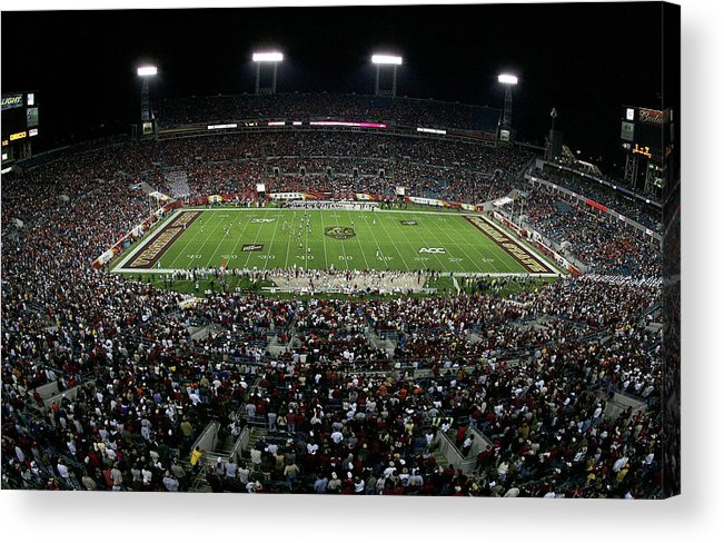 Tiaa Bank Field Acrylic Print featuring the photograph Acc Football Championship Game by Doug Benc