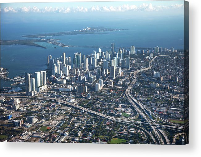 Outdoors Acrylic Print featuring the photograph Aerial View Of Miami by Buena Vista Images