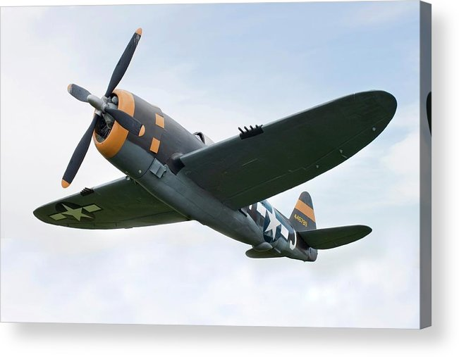 Air Attack Acrylic Print featuring the photograph Airplane P-47 Thunderbolt From World by Okrad