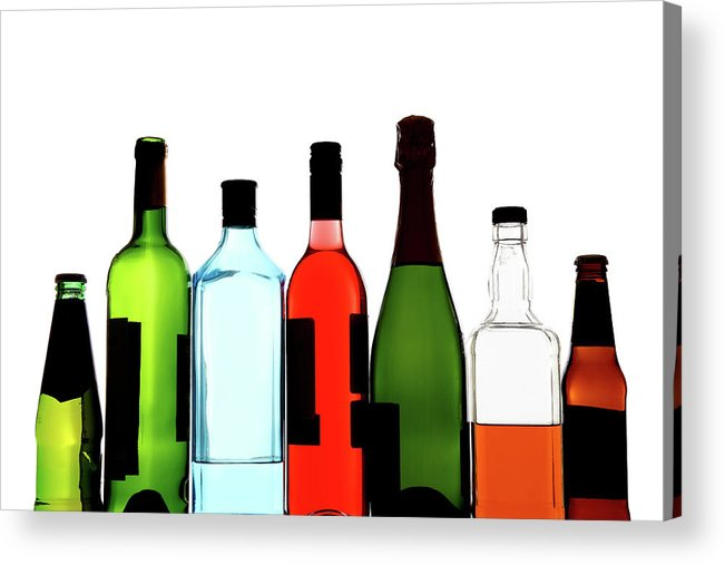 Alcohol Acrylic Print featuring the photograph Alcohol by Mattjeacock