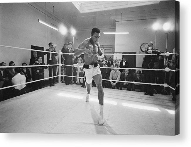 People Acrylic Print featuring the photograph Ali In Training by R. Mcphedran