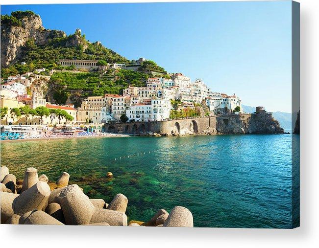 Tyrrhenian Sea Acrylic Print featuring the photograph Amalfi Coast, Italy by Brzozowska