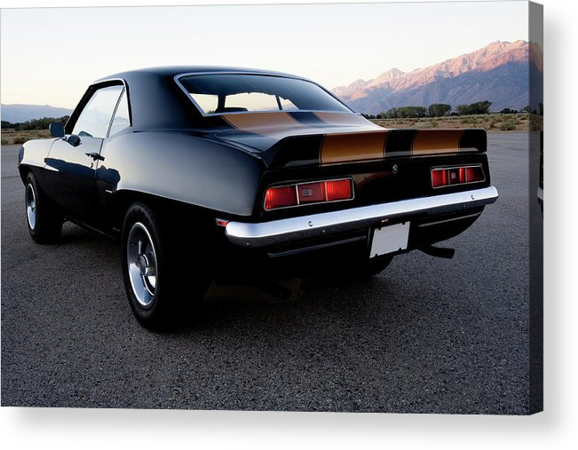 Drag Racing Acrylic Print featuring the photograph American Muscle Car by Sierrarat