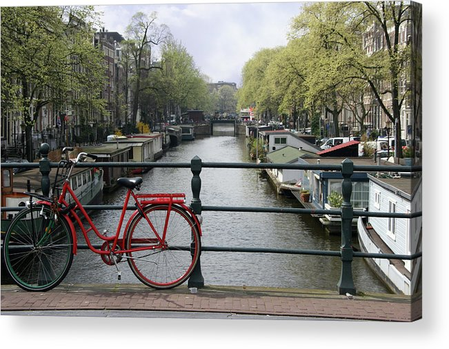 Row House Acrylic Print featuring the photograph Amsterdam City Scene by W-ings