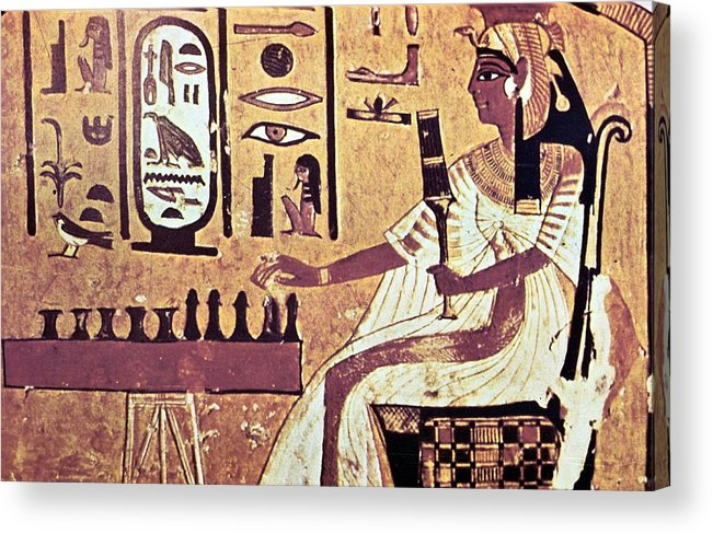 Human Representation Acrylic Print featuring the photograph Ancient Egyptian Queen Nefetari Playing by Photos.com