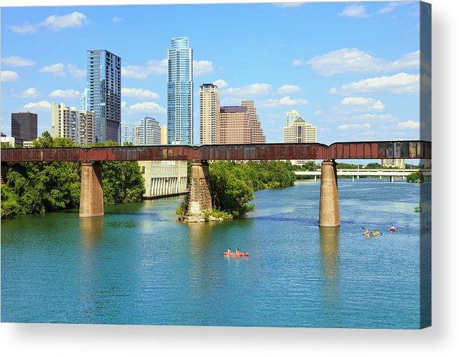 Scenics Acrylic Print featuring the photograph Austin Texas Skyline, Colorado River by Dszc