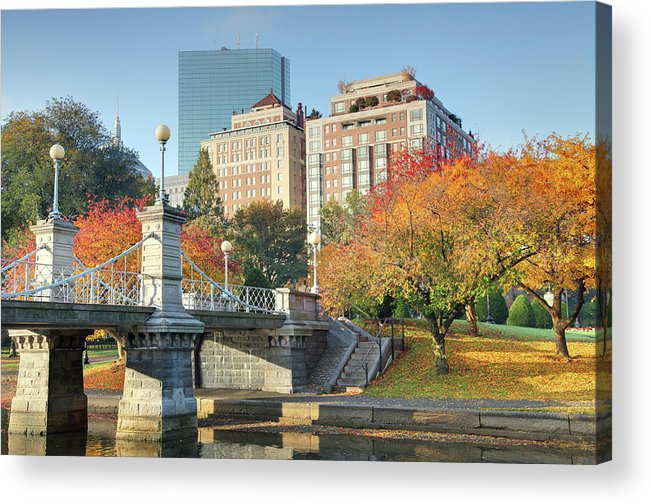Downtown District Acrylic Print featuring the photograph Autumn In Boston by Denistangneyjr