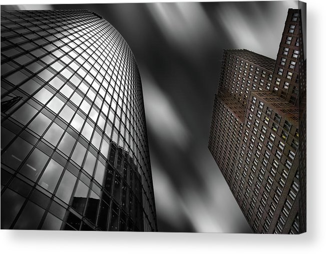 Tower Acrylic Print featuring the photograph Bahn Tower And Kollhoff-tower by Rolf Mauer