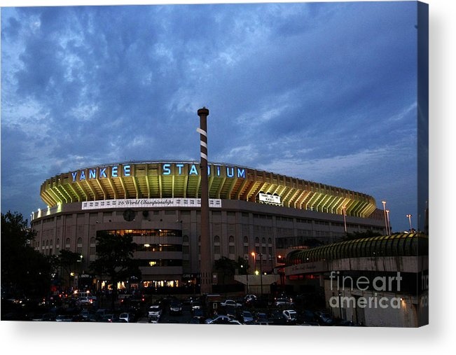 American League Baseball Acrylic Print featuring the photograph Baltimore Orioles V New York Yankees by Chris Mcgrath