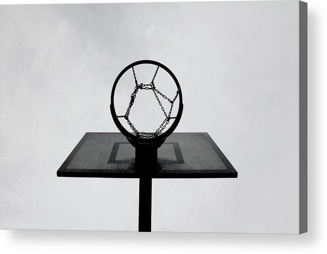 Outdoors Acrylic Print featuring the photograph Basketball Hoop by Christoph Hetzmannseder