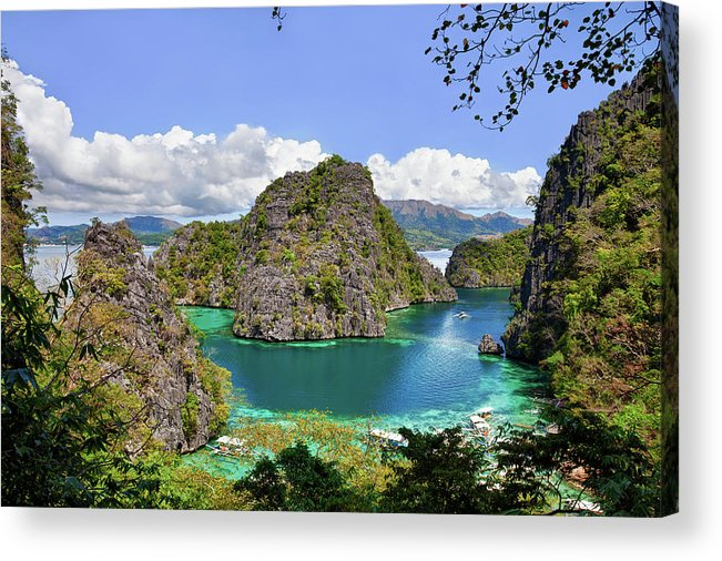 Scenics Acrylic Print featuring the photograph Beautiful Blue Lagoon At Kayangan Lake by Fototrav