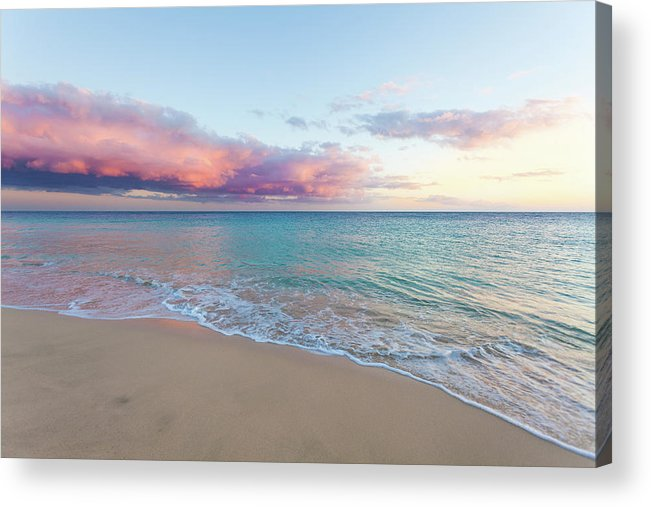Water's Edge Acrylic Print featuring the photograph Beautiful Seascape, Beach And Ocean At by Zodebala