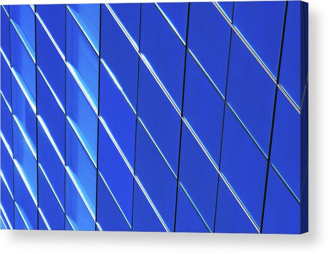 Outdoors Acrylic Print featuring the photograph Blue Glass Modern Building by Joelle Icard