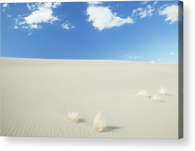 Sand Dune Acrylic Print featuring the photograph Blue Sky Over Sand Dune by Bryan Mullennix