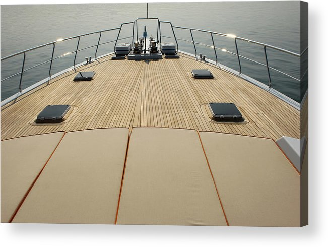 Seascape Acrylic Print featuring the photograph Boat Deck by 1001nights