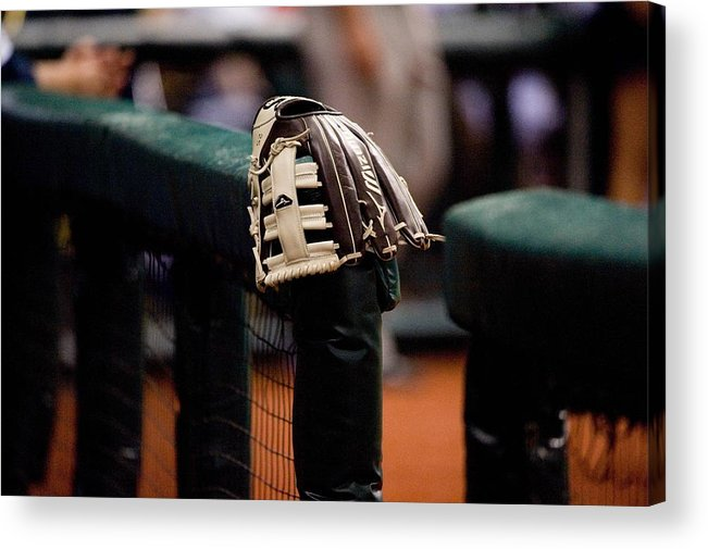 American League Baseball Acrylic Print featuring the photograph Boston Red Sox V Tampa Bay Rays by Ronald C. Modra/sports Imagery