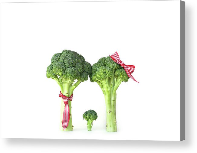 Broccoli Acrylic Print featuring the photograph Broccoli Dad, Mom And Baby by Stephanie Mull Photography