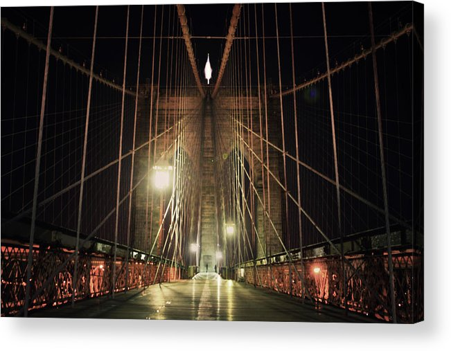 Tranquility Acrylic Print featuring the photograph Brooklyn Bridge by Good Art Looks Pretty, Great Art Invokes Thought