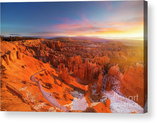 Scenics Acrylic Print featuring the photograph Bryce Canyon National Park At Sunset by Ankit Saxena