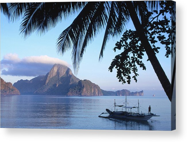 People Acrylic Print featuring the photograph Cadlao Island From El Nido, Sunrise by Dallas Stribley