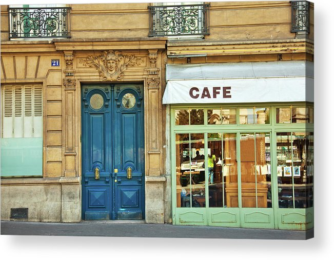 Diner Acrylic Print featuring the photograph Cafe In Paris by Nikada