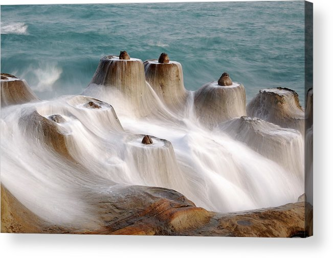 Taiwan Acrylic Print featuring the photograph Candle Shaped Rock by Maxchu
