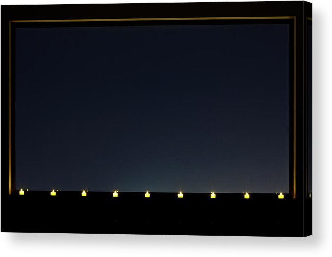 Empty Acrylic Print featuring the photograph Candles In A Row By The Window by Sot