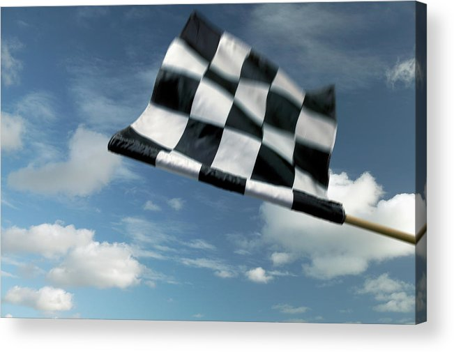 Working Acrylic Print featuring the photograph Checkered Flag by James W. Porter