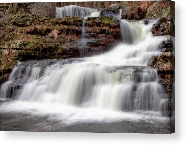 Outdoors Acrylic Print featuring the photograph Childs Park Waterfall by Michael Orso