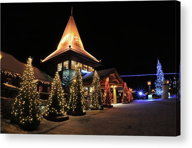 Holiday Acrylic Print featuring the photograph Christmas Decorated Town by Csondy