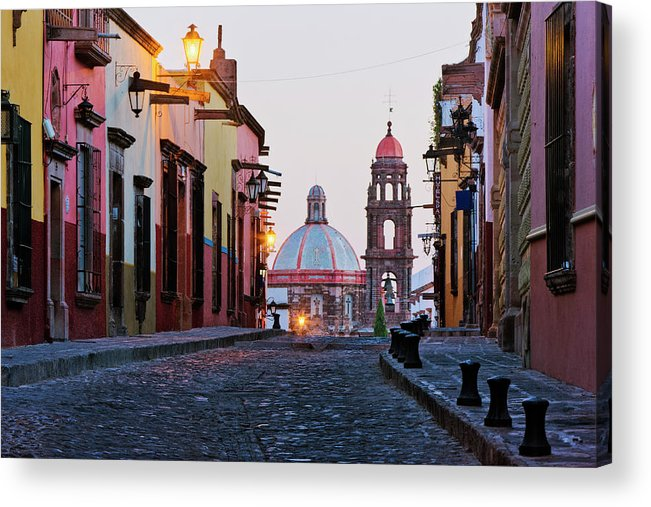 Latin America Acrylic Print featuring the photograph Church Of San Francisco, Looking Up by Jeremy Woodhouse