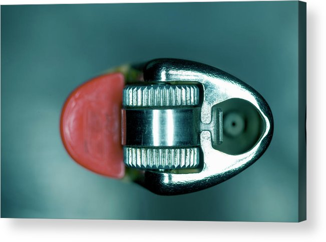 Cigarette Lighter Acrylic Print featuring the photograph Cigarette Lighter, Close-up by Michael Duva