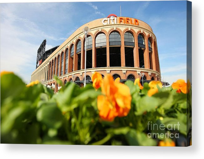 Residential District Acrylic Print featuring the photograph Citifield Preview by Mike Stobe